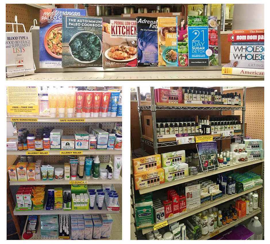 Organic Food, Books & Vitamins